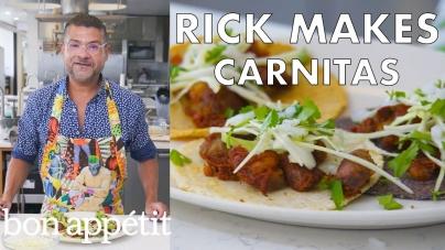 Rick Makes Double-Pork Carnitas and Corn Tortillas